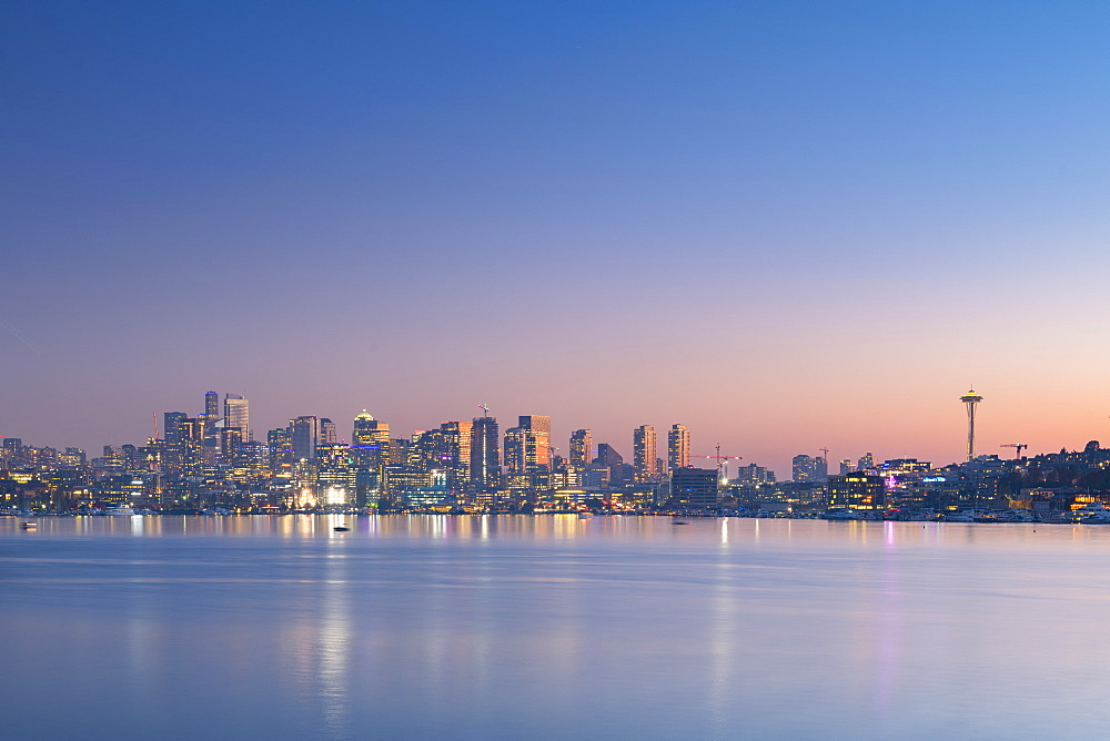 View of Seattle from Gas Works Park, Seattle, Washington State, United States of America, North America