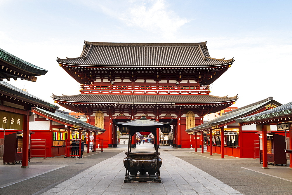 Sensoji Temple in Cherry blossom season