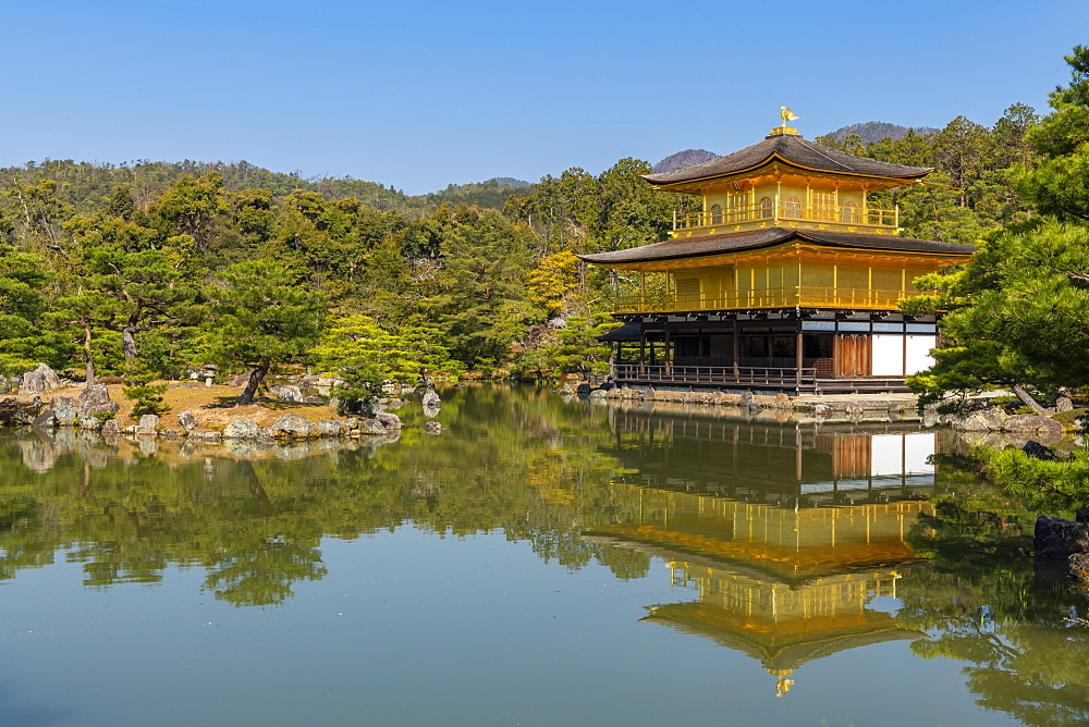 Kinkaku-ji temple, UNESCO World Heritage Site, Kyoto, Japan, Asia