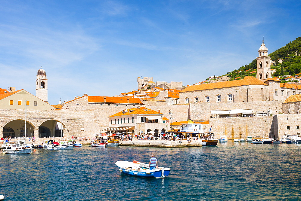 Dubrovnik Harbour, UNESCO World Heritage Site, Dubrovnik, Croatia, Europe