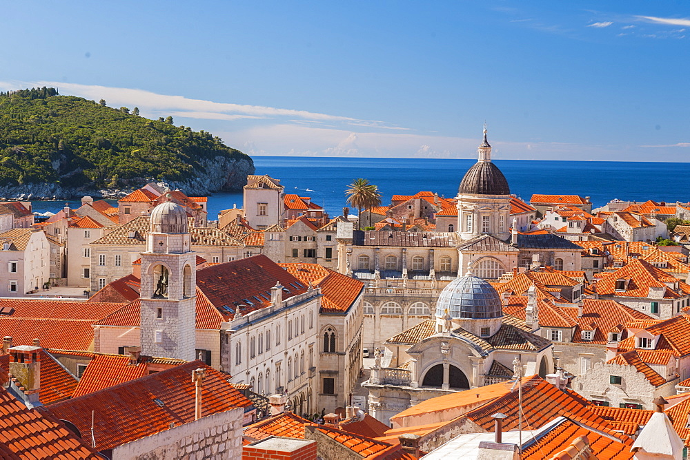 Old town rooftops, UNESCO World Heritage Site, Dubrovnik, Croatia, Europe