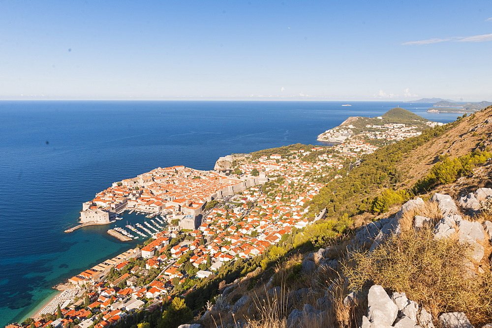 Aerial view of Dubrovnik, Croatia, Europe