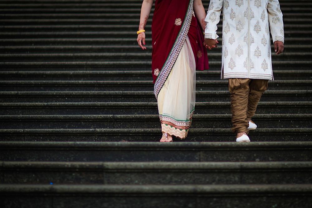 Chinese and Indian couple, United Kingdom, Europe