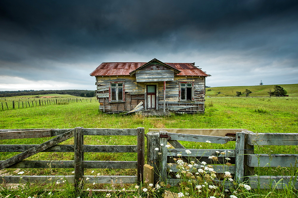 Derelict building in Far North, New Zealand, Pacific