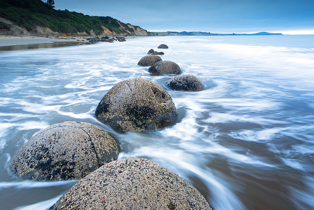 Moeraki boulders, Moeraki, Otago, South Island, New Zealand, Pacific