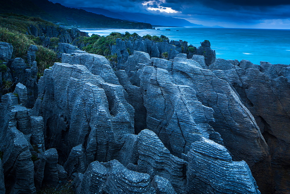 Punakaiki, Pancake Rocks, West coast, North Island, New Zealand, Pacific