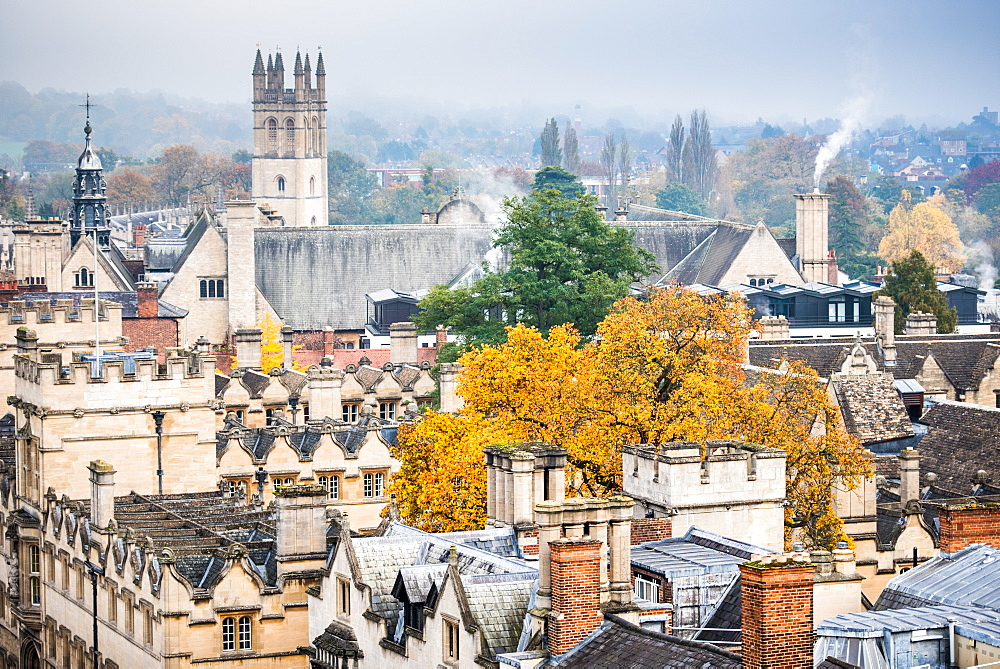Magdalen College in autumn, Oxford, Oxfordshire, England, United Kingdom, Europe