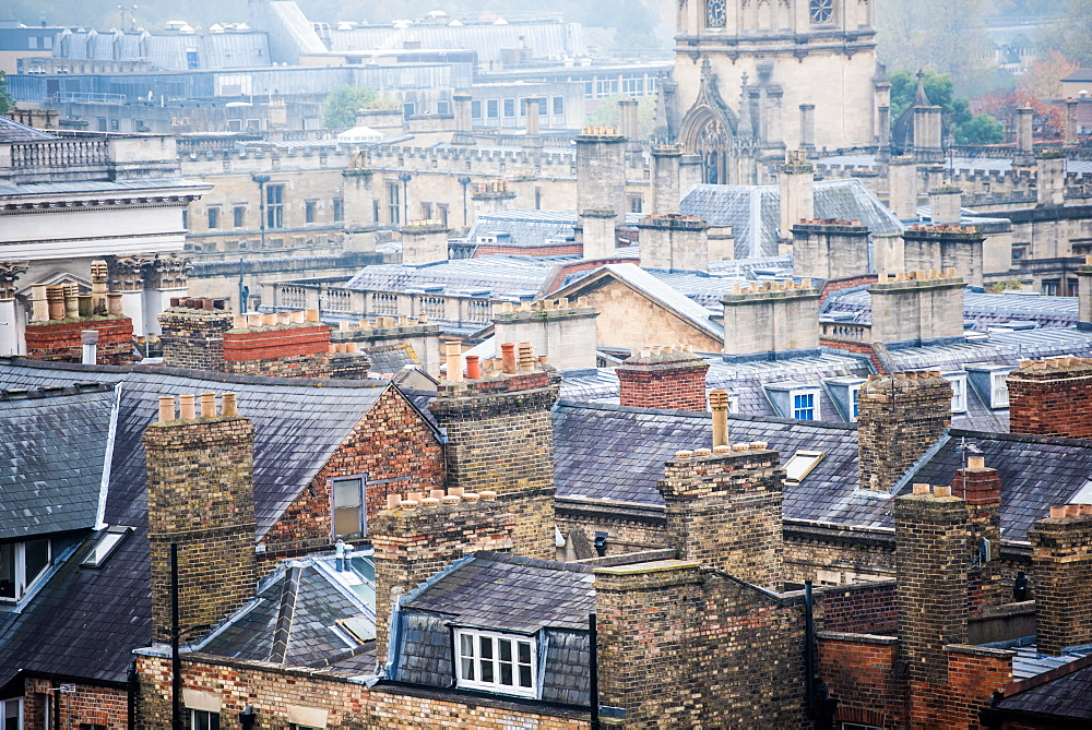 Oxford rooftops, Oxford, Oxfordshire, England, United Kingdom, Europe - 1199-368