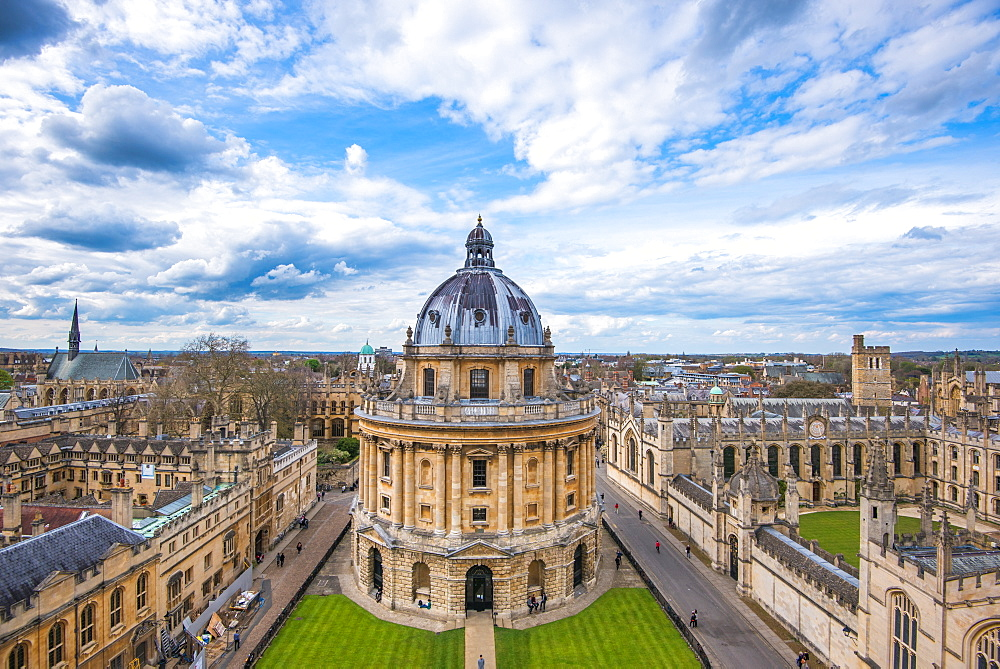 Radcliffe Camera and the view of Oxford from St. Mary's Church, Oxford, Oxfordshire, England, United Kingdom, Europe - 1199-437