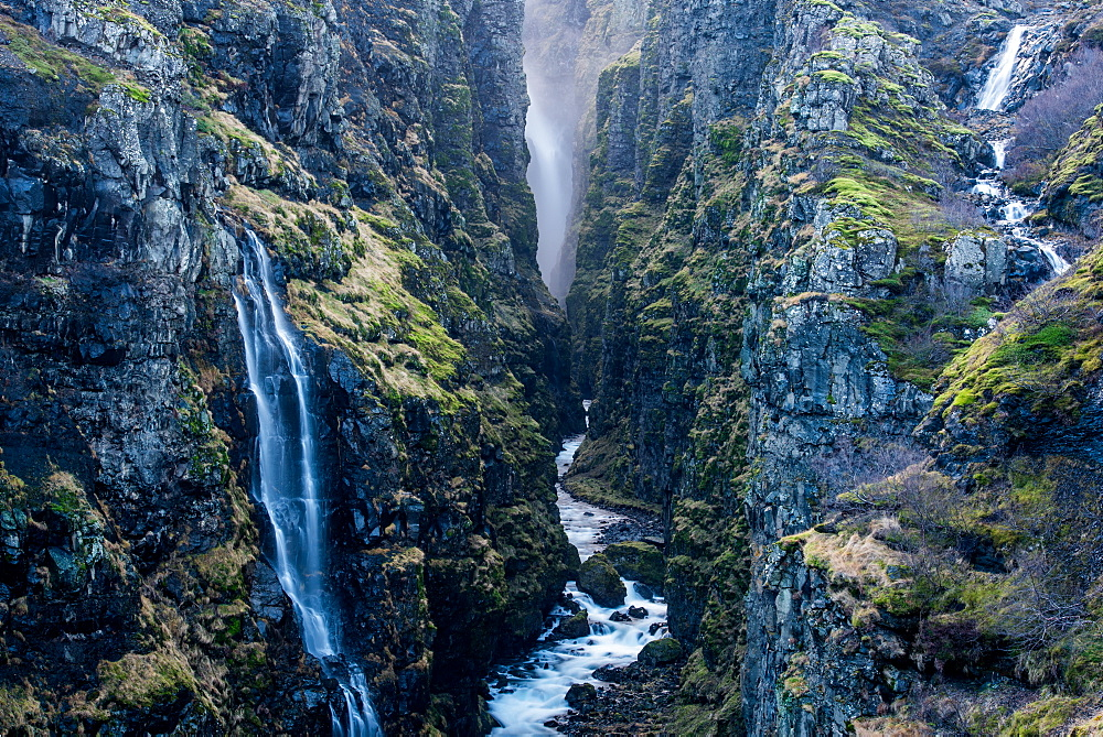 Glymur Waterfall, Iceland, Polar Regions - 1199-447