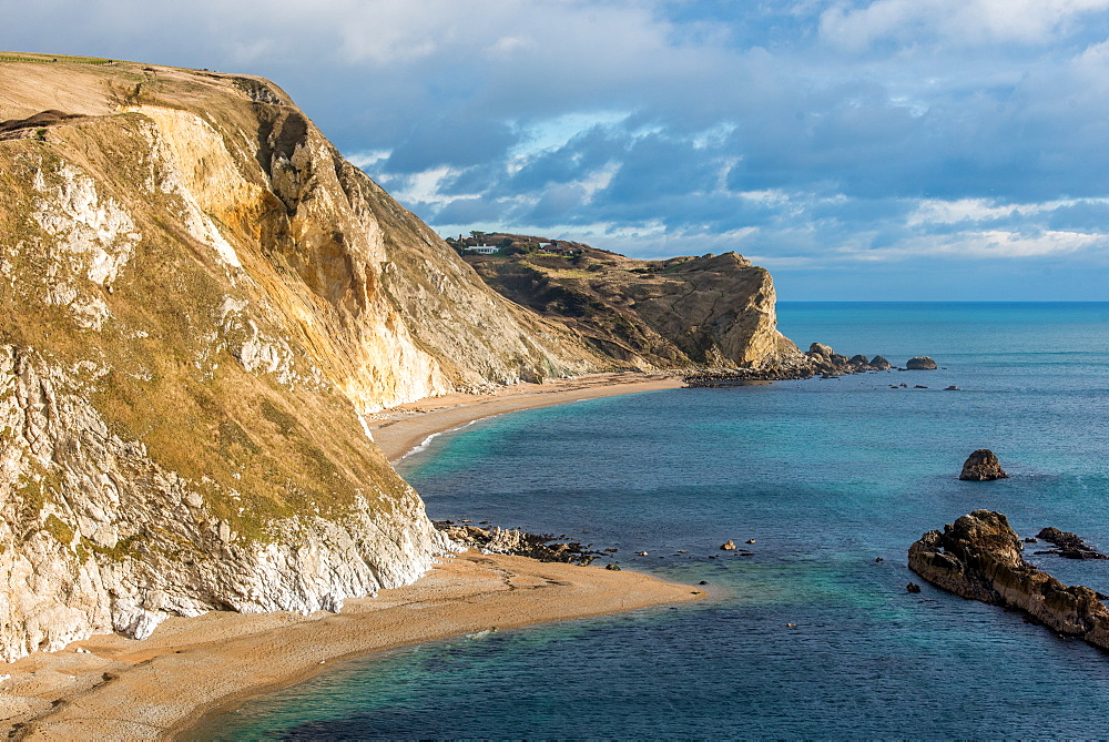 Man o War Cove, Jurassic Coast, UNESCO World Heritage Site, Dorset, England, United Kingdom, Europe - 1199-474