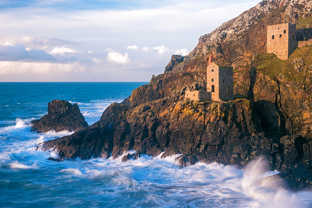 The Crown Tin Mines in Botallack, UNESCO World Heritage Site, Cornwall, England, United Kingdom, Europe - 1199-494