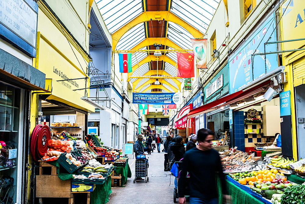Brixton Market, London, England, United Kingdom, Europe - 1199-581