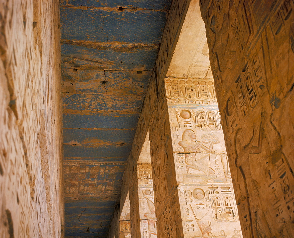 Medinet Habu, Thebes, UNESCO World Heritage Site, Egypt, North Africa, Africa