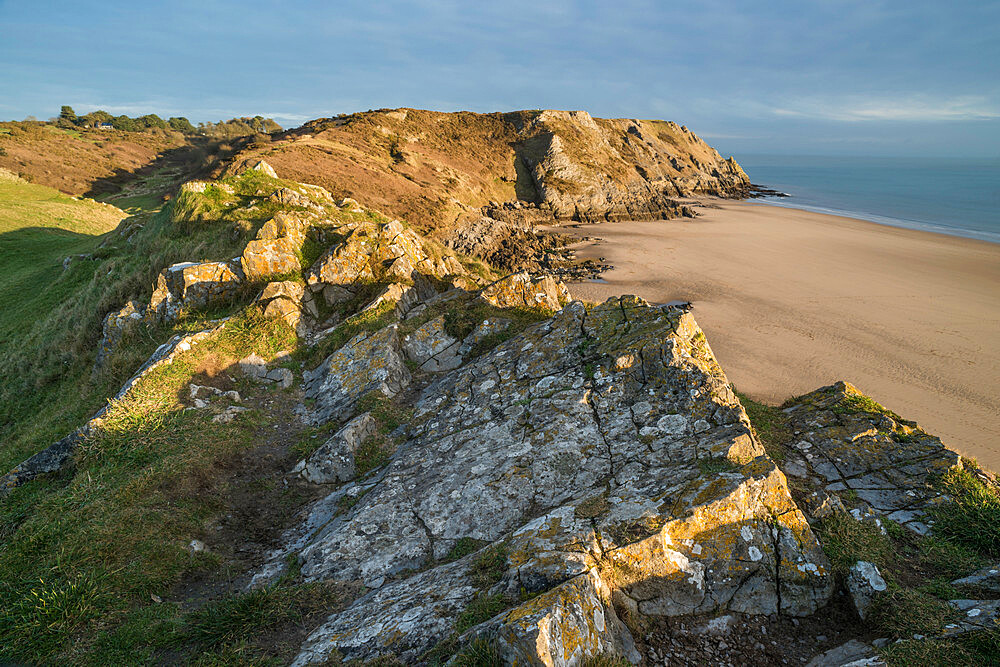 View of Pobbles Beach, Gower Peninsula, South Wales, United Kingdom, Europe - 1200-112