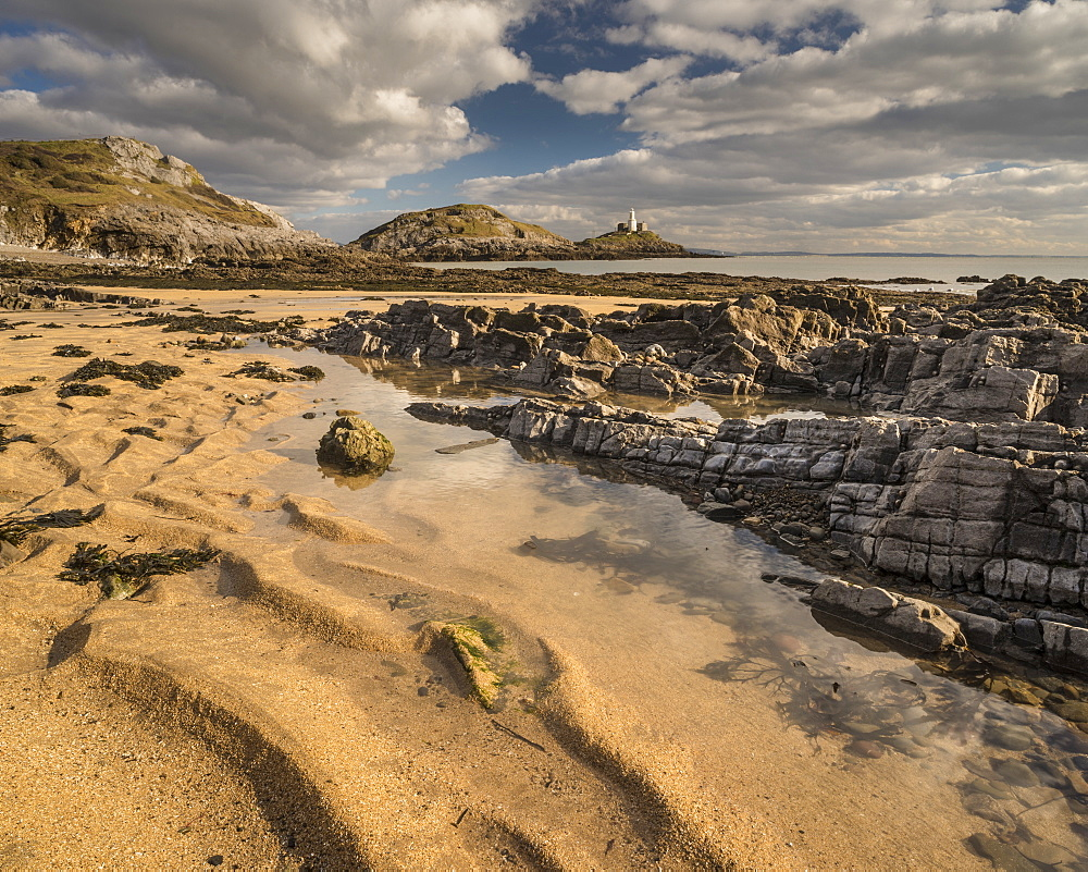 Low tide, Bracelet Bay, Mumbles, Gower, South Wales.