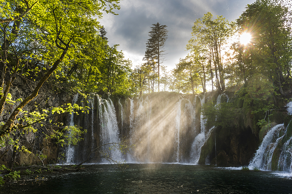 Waterfalls, Plitvice National Park, UNESCO World Heritage Site, Croatia, Europe