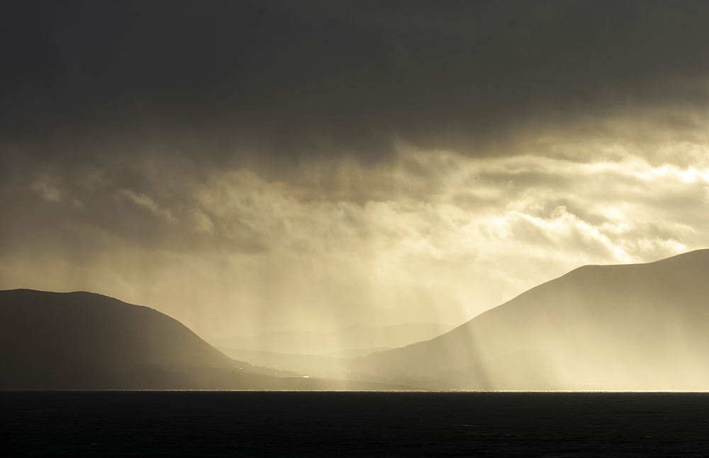 Rain-clouds over the Dingle Peninsula, Kerry, Republic of Ireland