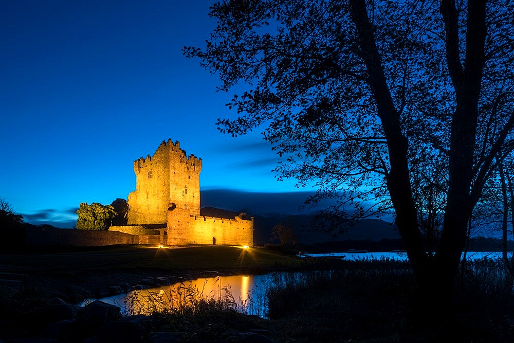 Ross Castle at dusk, Killarney. - 1200-435