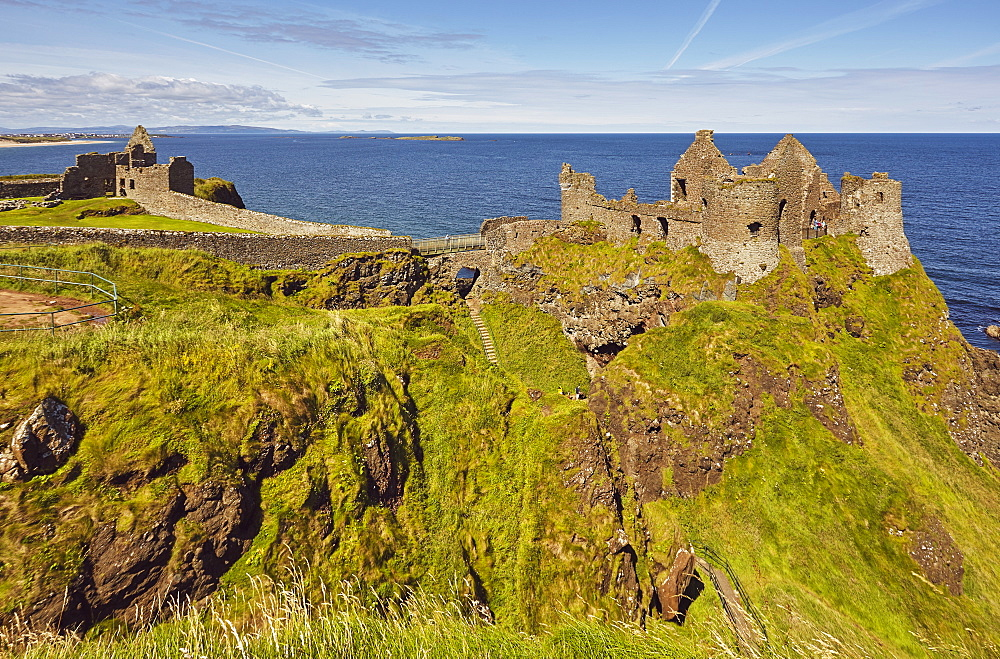 Dunluce Castle, near Portrush, County Antrim, Ulster, Northern Ireland, United Kingdom, Europe