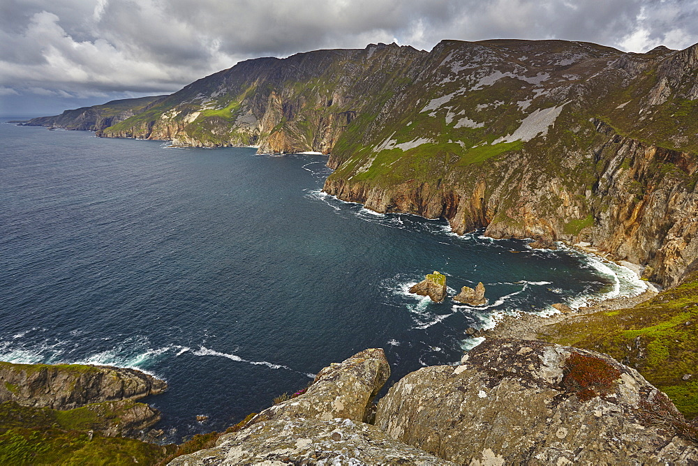 The cliffs at Slieve League, near Killybegs, County Donegal, Ulster, Republic of Ireland, Europe - 1202-124