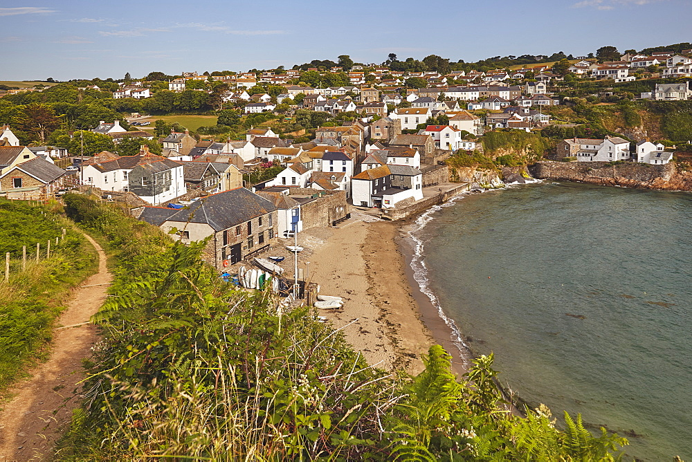 The little harbour-cum-beach village of Gorran Haven, near St Austell, on the south coast of Cornwall.