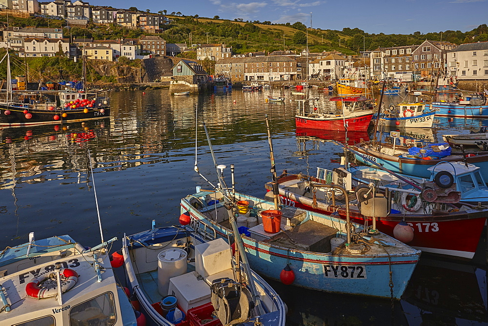The archetypal Cornish fishing harbour that is Mevagissey, near St Austell, on the south coast of Cornwall.
