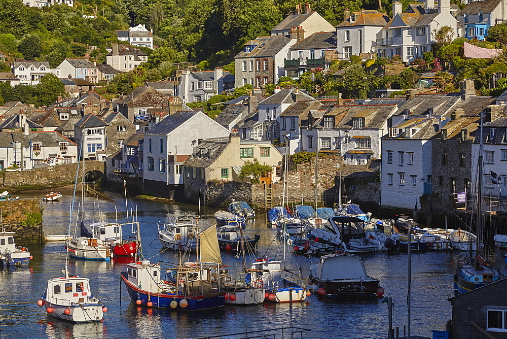 One of Cornwall's most famous attractions: the ultimate quintessential Cornish fishing village of Polperro, on the south coast.