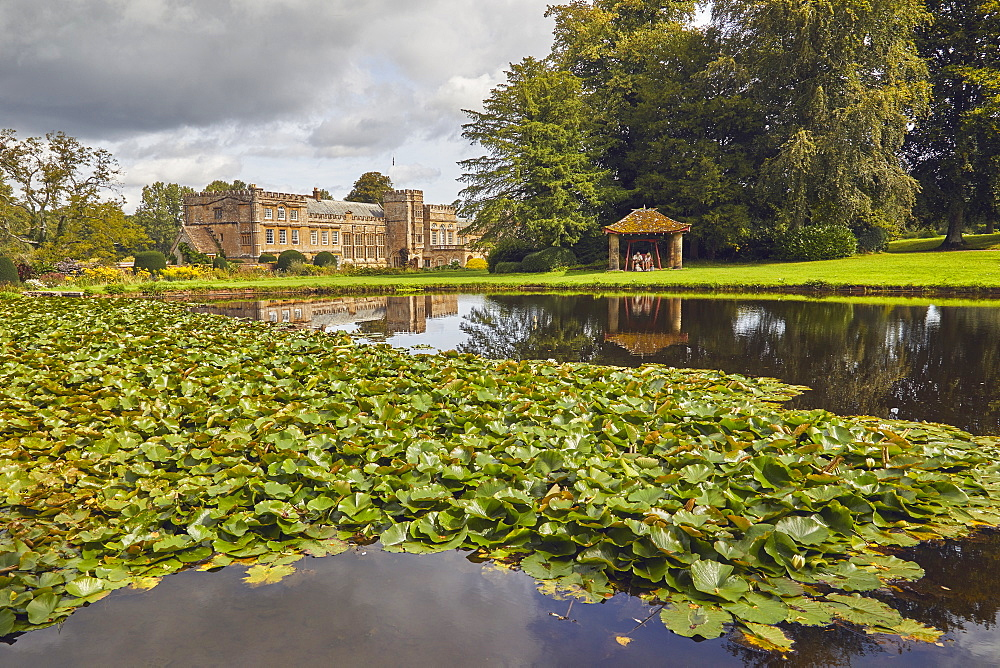 The Mermaid Pond at Forde Abbey and Gardens, near Chard, Somerset, Great Britain.