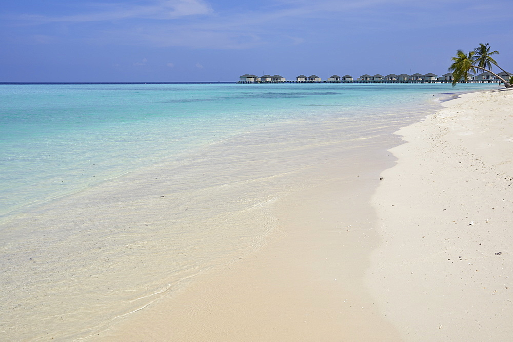 A tropical beach, on Havodda island, in Gaafu Dhaalu atoll, in the far south of The Maldives, Indian Ocean, Asia - 1202-459