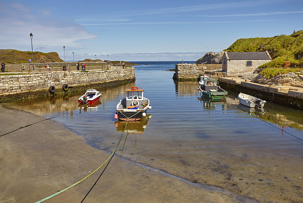 Balintoy harbour, near Giant's Causeway, County Antrim, Ulster, Northern Ireland, United Kingdom, Europe
