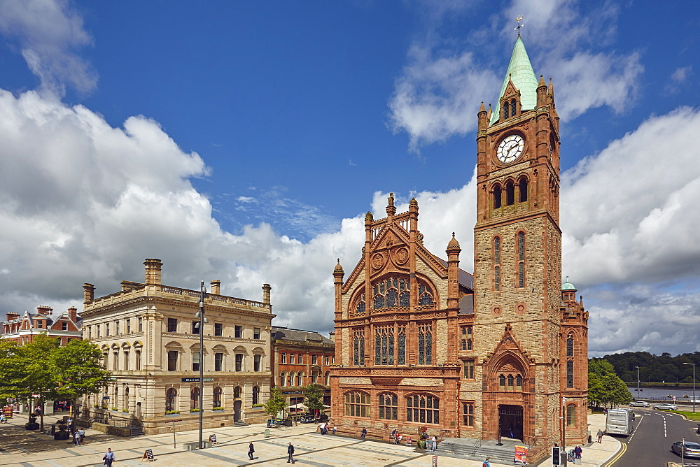 The Guildhall, Derry (Londonderry), County Londonderry, Ulster, Northern Ireland, United Kingdom, Europe
