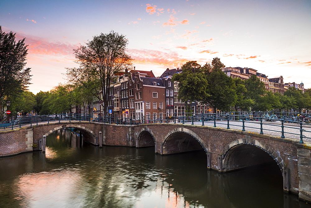 A bridge over the Keizersgracht Canal, Amsterdam, Netherlands, Europe