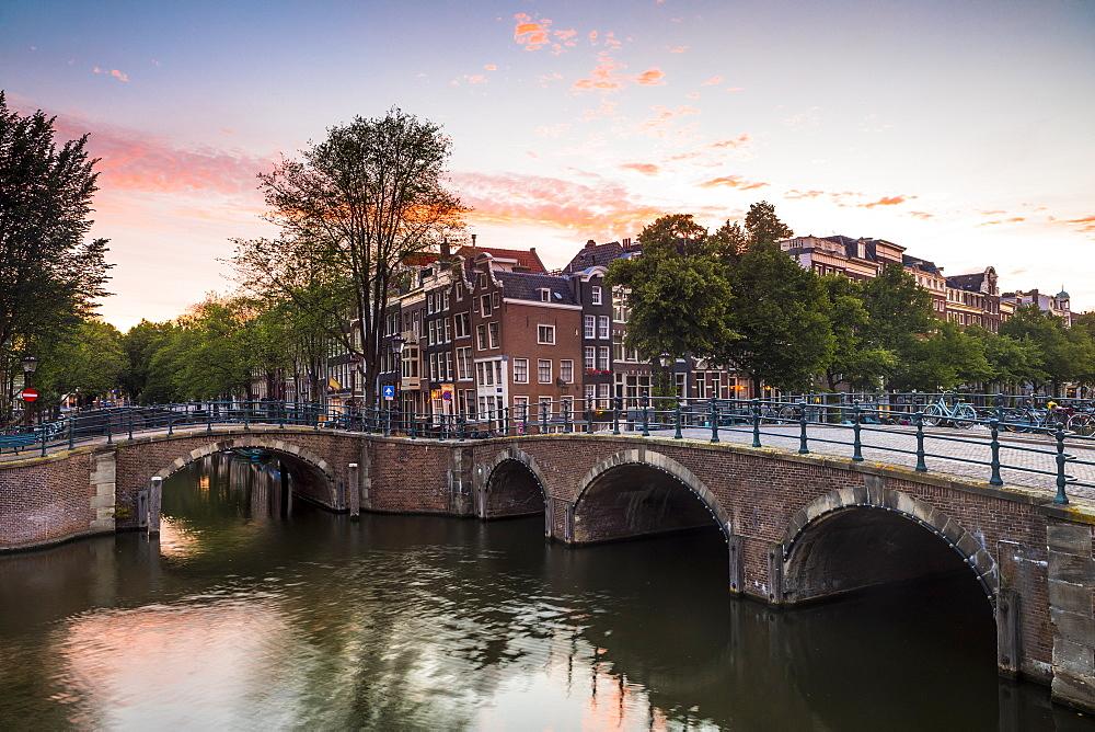 A bridge over the Keizersgracht canal, Amsterdam, Netherlands