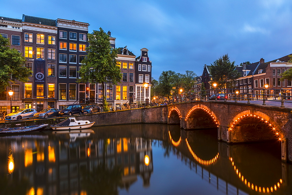 A bridge over the Keizersgracht canal, Amsterdam, Netherlands - 1207-142