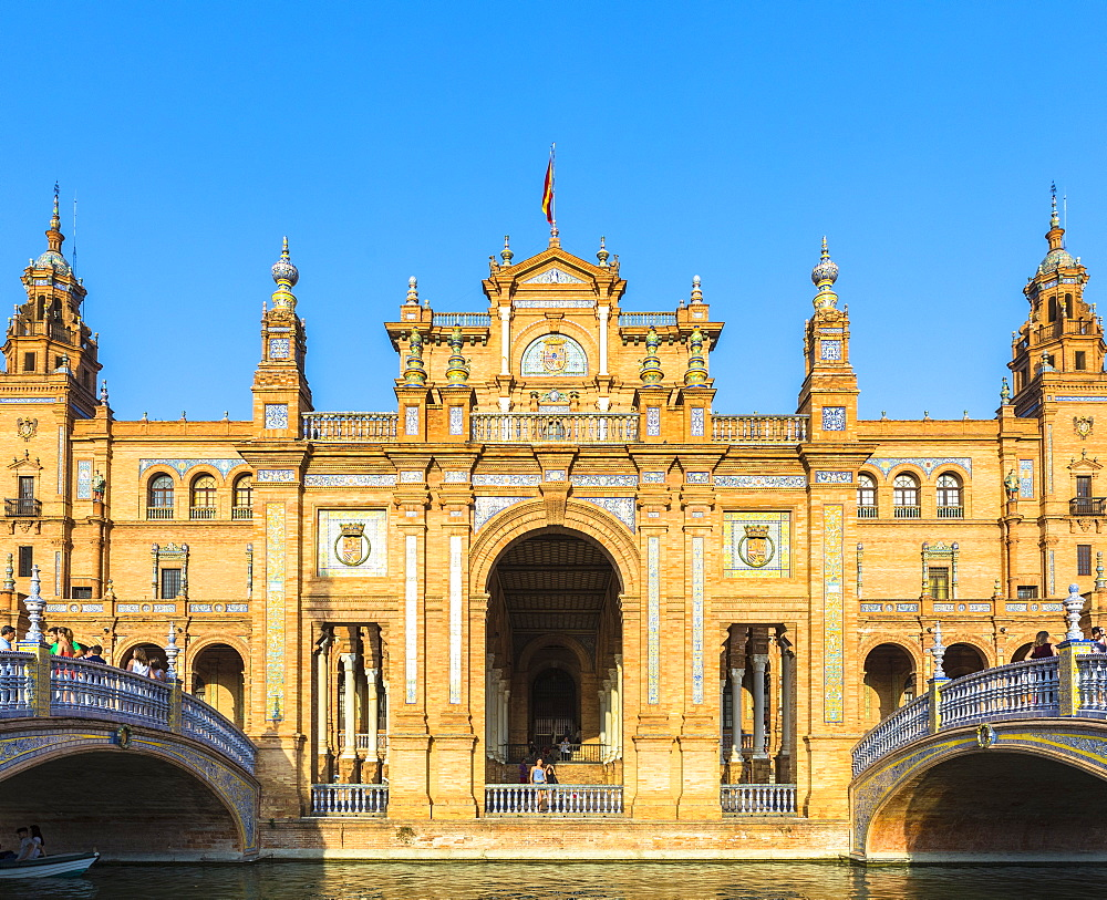 Plaza de Espana, built for the Ibero-American Exposition of 1929, Seville, Andalucia, Spain, Europe - 1207-222