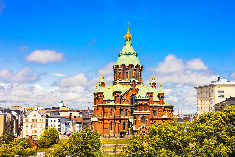 Uspenski Cathedral in Helsinki, Finland, Europe