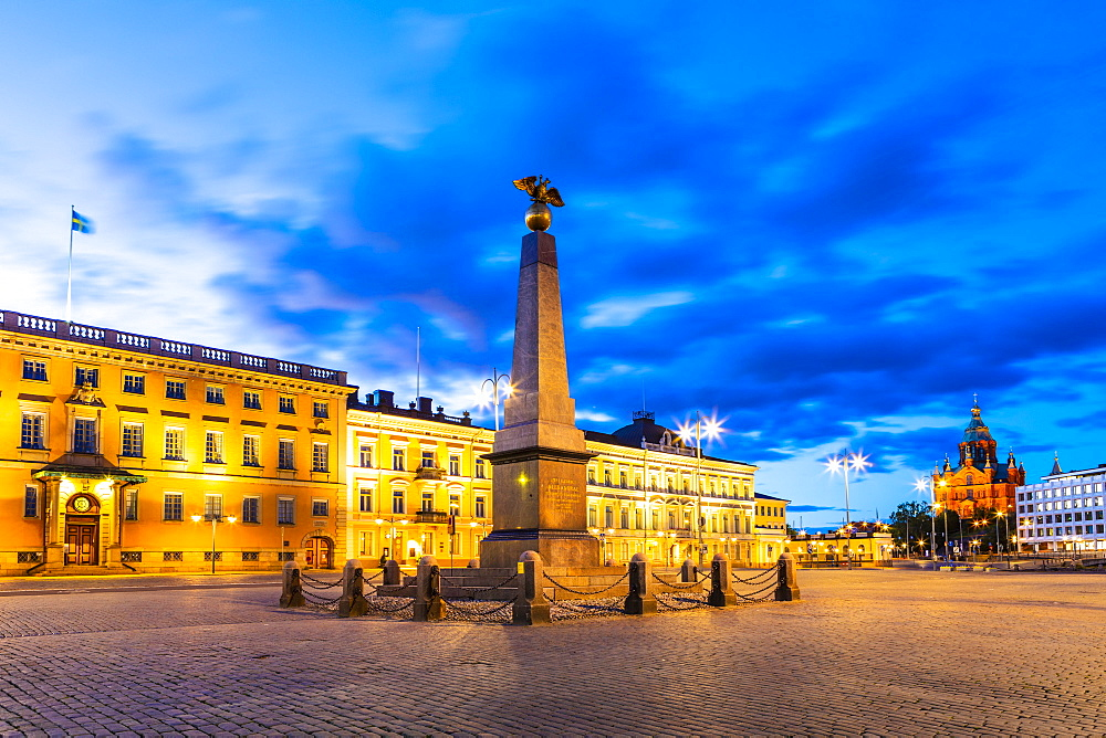 Tsarina's Stone at sunset in Helsinki, Finland, Europe