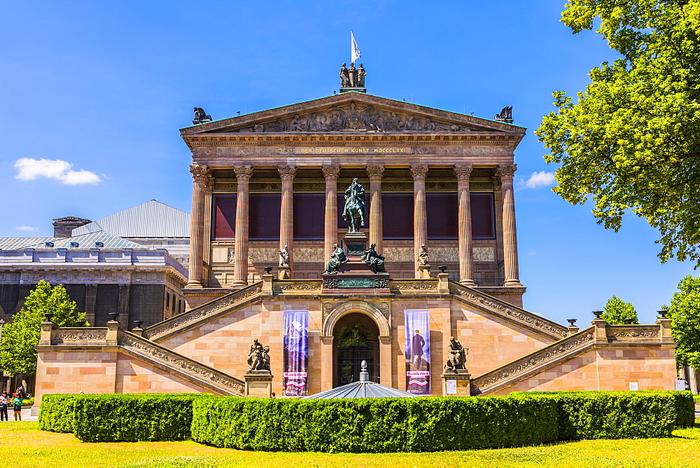 Old National Gallery, Museum Island, Berlin, Germany, Europe - 1207-541