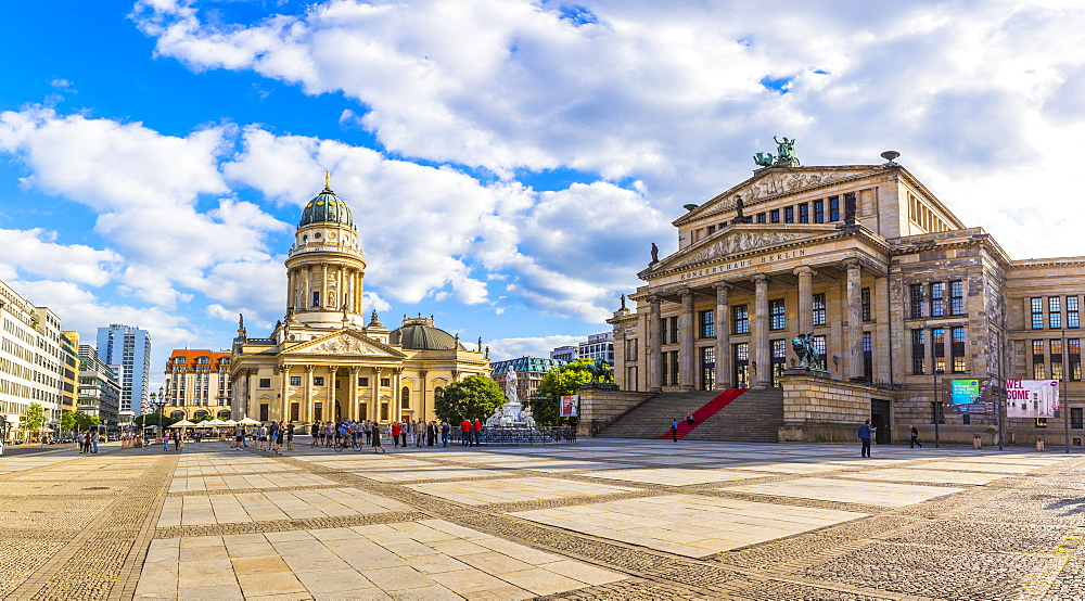 Deutscher Dom and the Concert Hall in Gendarmenmarkt, Berlin, Germany, Europe - 1207-563