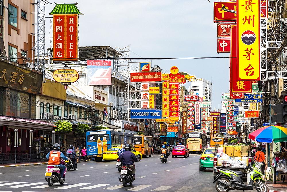 Yaowarat Road in Chinatown, Bangkok, Thailand, Southeast Asia, Asia - 1207-696