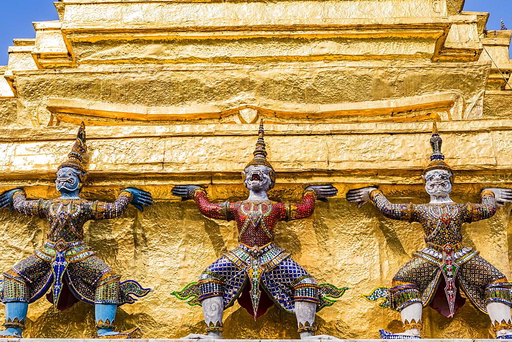 Wat Phra Kaew, The Grand Palace, Bangkok, Thailand, Southeast Asia, Asia - 1207-706