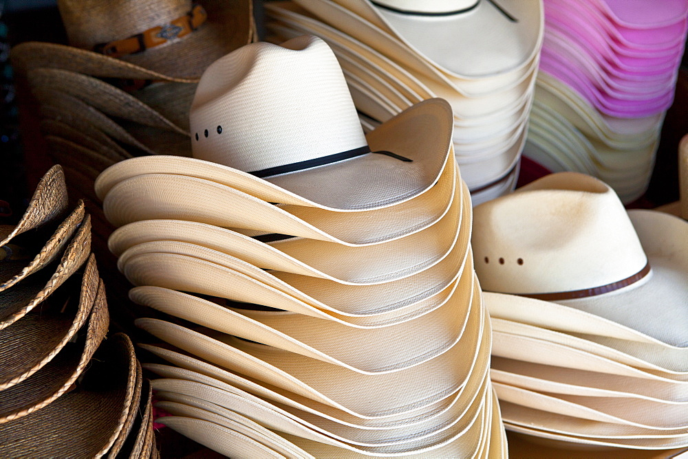 Cowboy hats, Fredericksburg, Texas, United States of America, North America