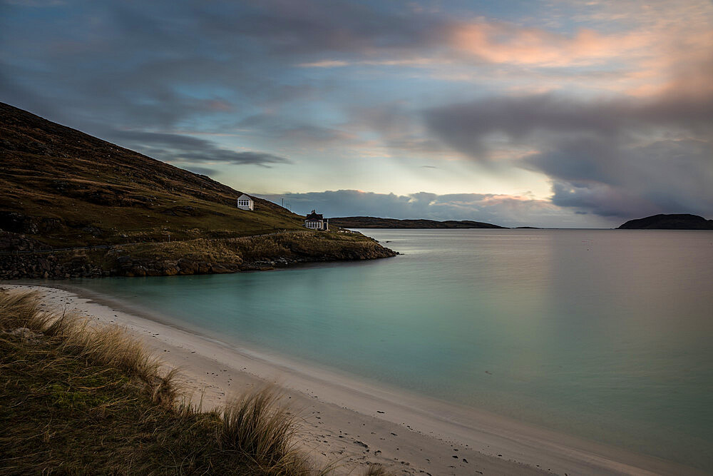Winter Sunrise at Bagh Bhatarsaigh (Vatersay Bay), Vatersay. The most southerly inhabited island of the Outer Hebrides.