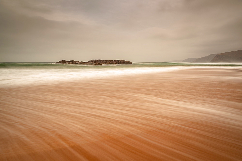 Sandwood Bay, Sutherland, Scotland, UK. Early morning. Cape Wrath far distance. - 1209-208