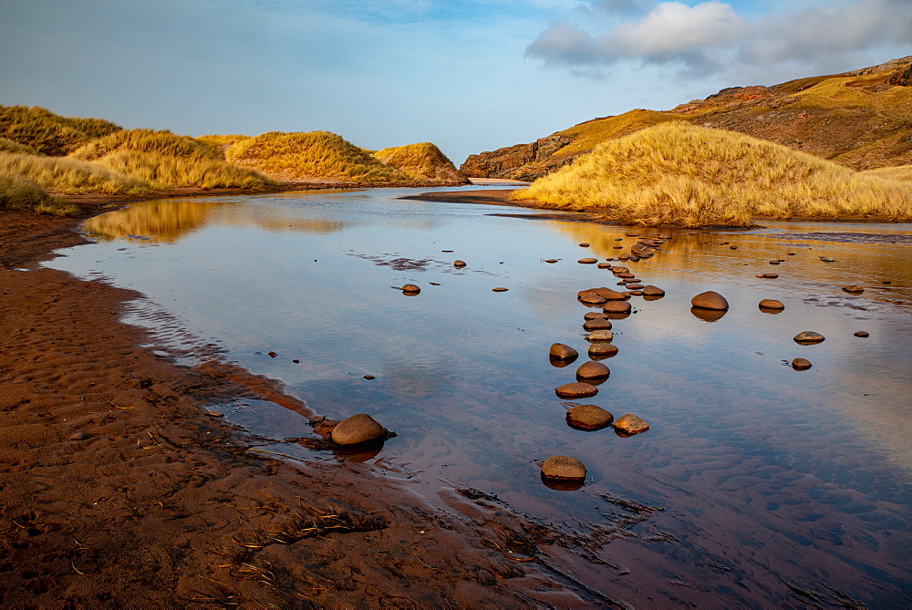 Late afternoon at Sandwood Loch, Sandwood Bay, Scotland.