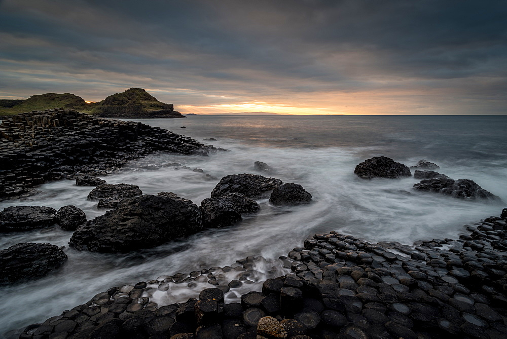 Giant's Causeway, Northern Ireland, UK. Sunset. - 1209-229