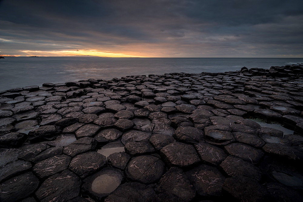 Giant's Causeway, Northern Ireland, UK. Sunset.