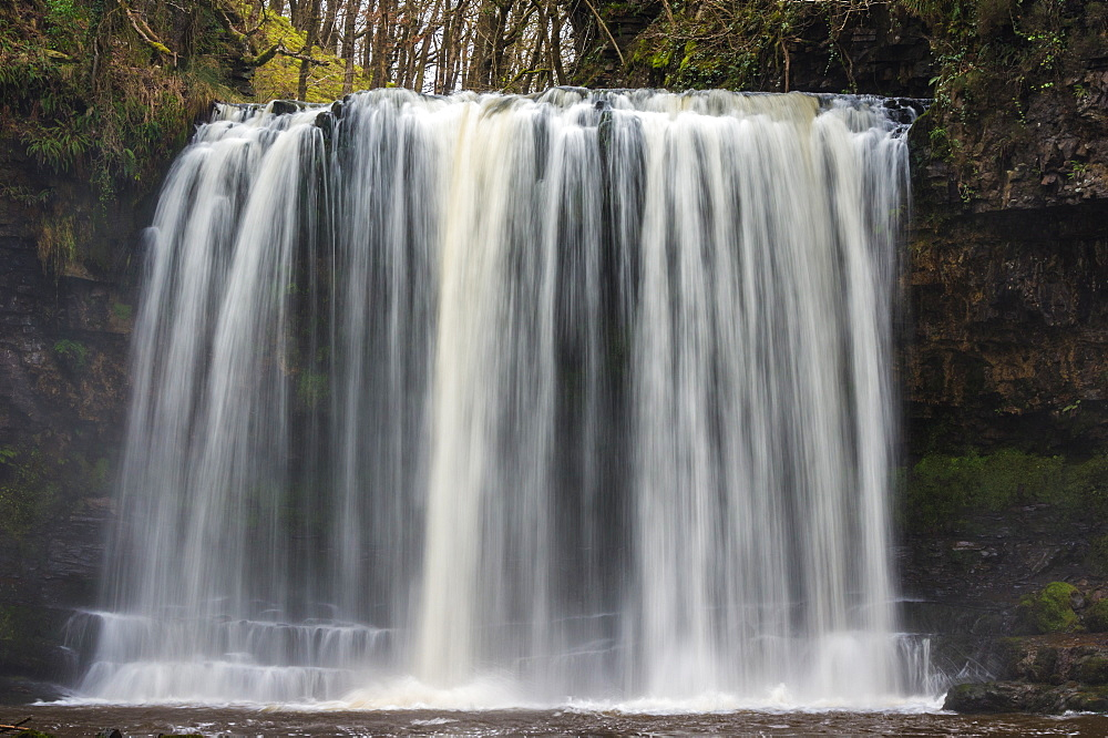 Sgwd yr Eira waterfall, Pontneddfechan, Waterfall country, Brecon Beacons, Powys, Wales, United Kingdom, Europe