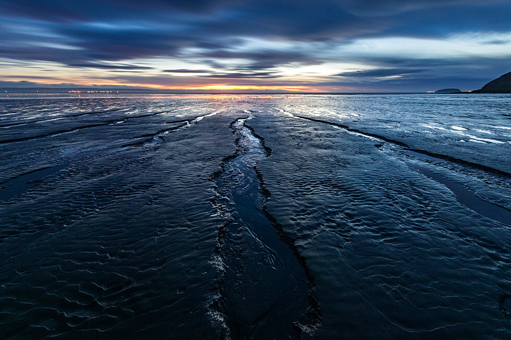 Brean Beach, Somerset. Sunset. Mud. Bristol Channel. - 1209-249